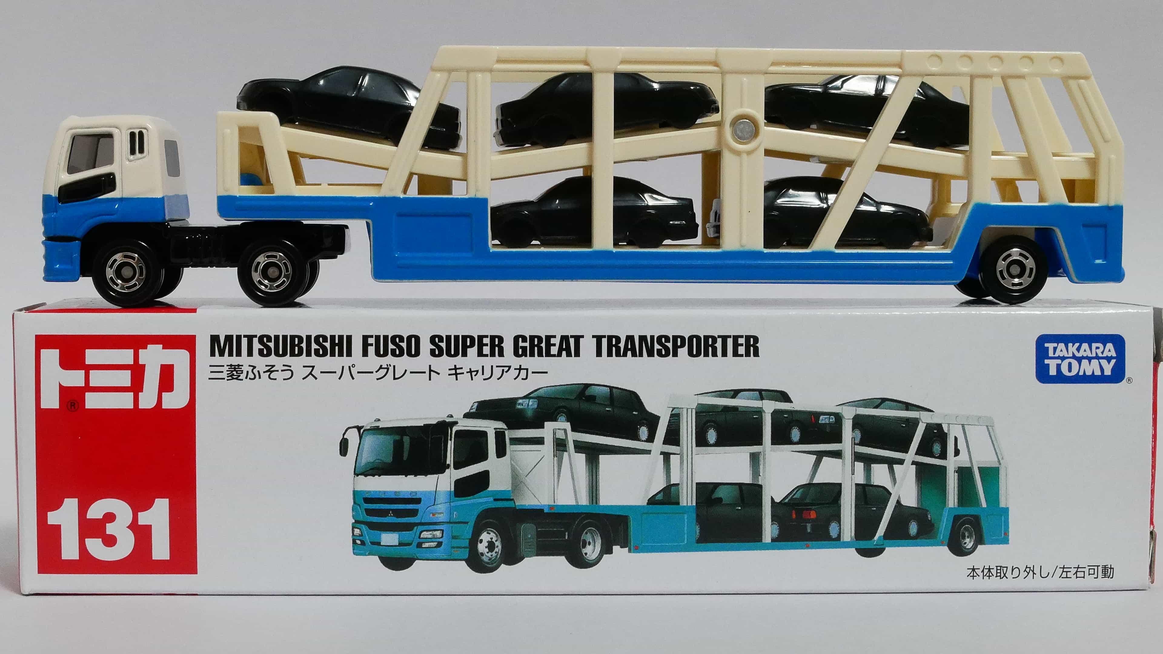 ロングタイプトミカNo.131-1三菱ふそうスーパーグレートキャリアカー-箱