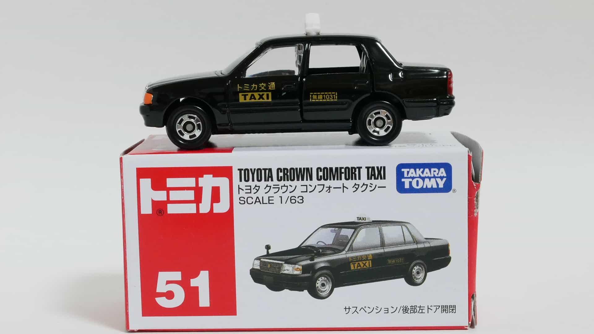 トミカNo.51-6トヨタクラウンコンフォートタクシー-箱