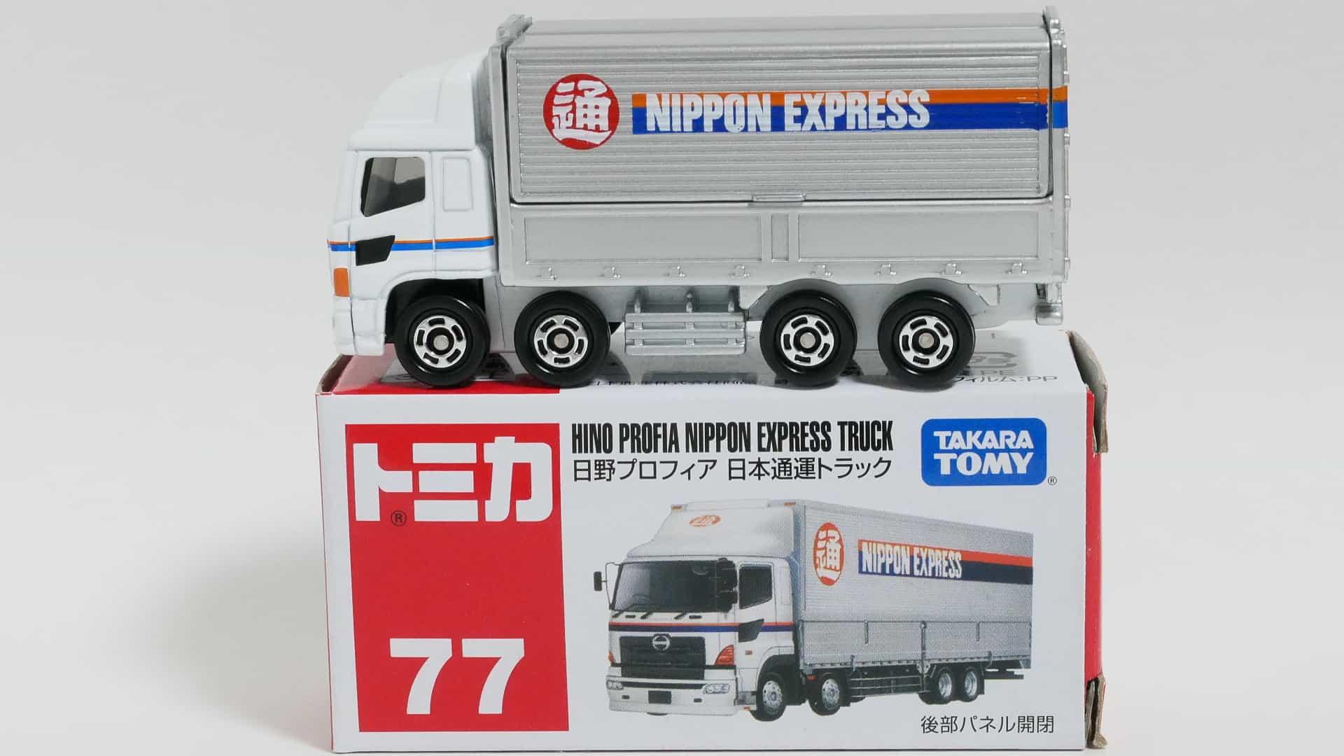 トミカNo.77-7 日野プロフィア日本通運トラック-箱