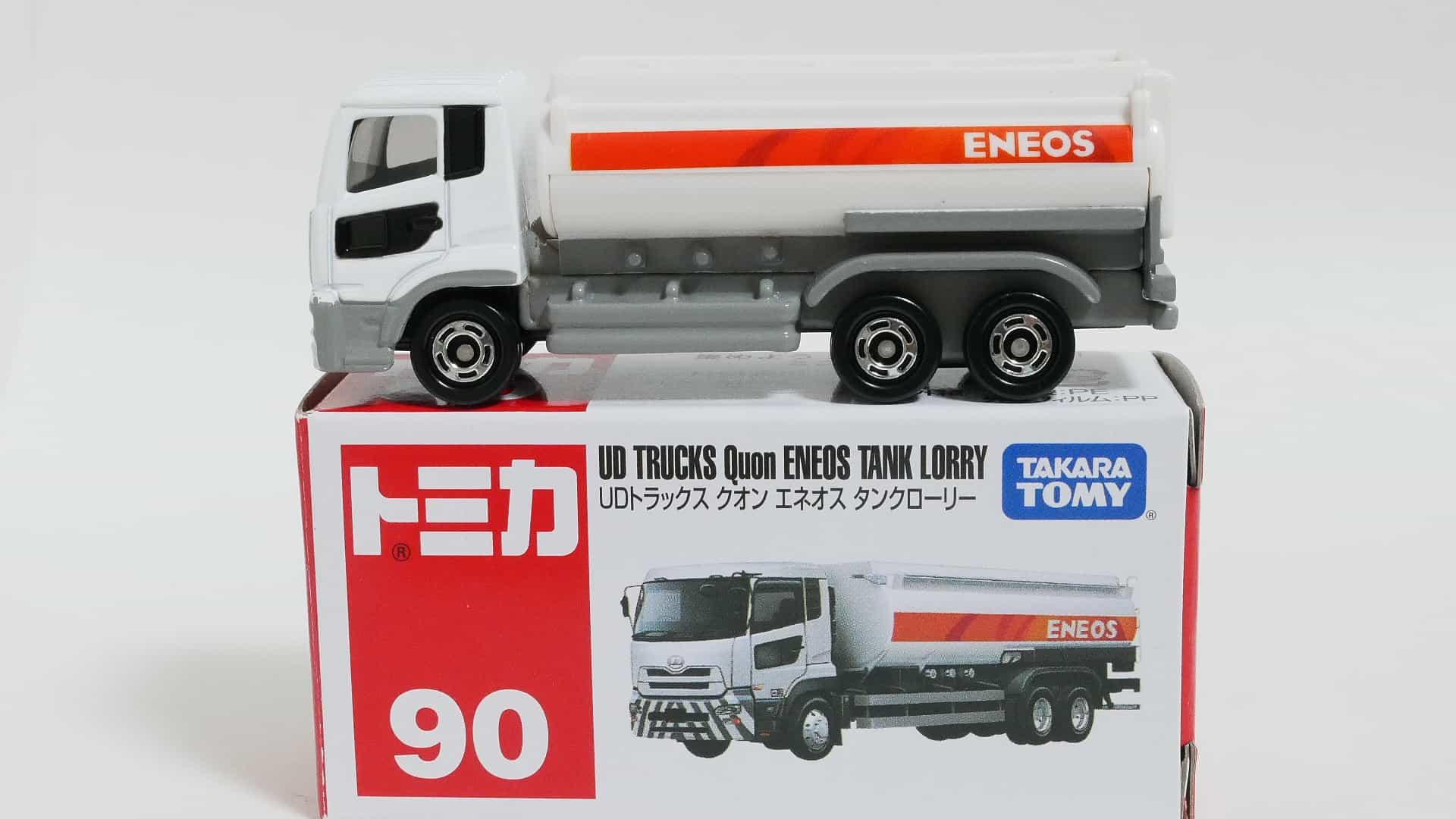 トミカNo.90-8UDトラックスクオンエネオスタンクローリー-箱