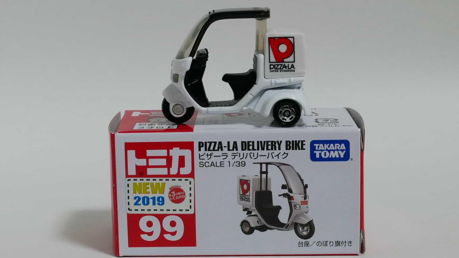 トミカNo.99-9ピザーラデリバリーバイク-箱